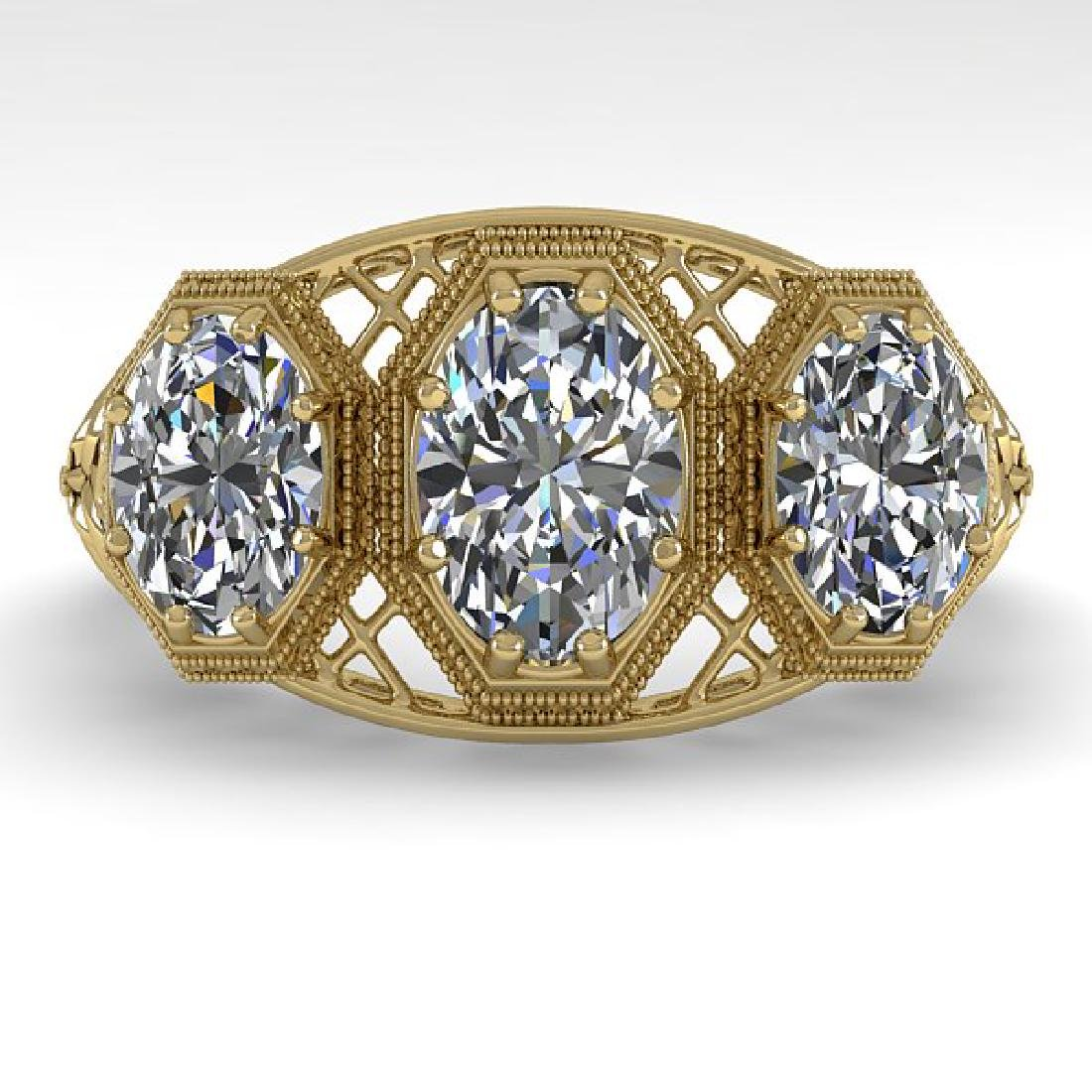 2 CTW VS/SI Oval Cut Diamond Ring 14K Yellow Gold