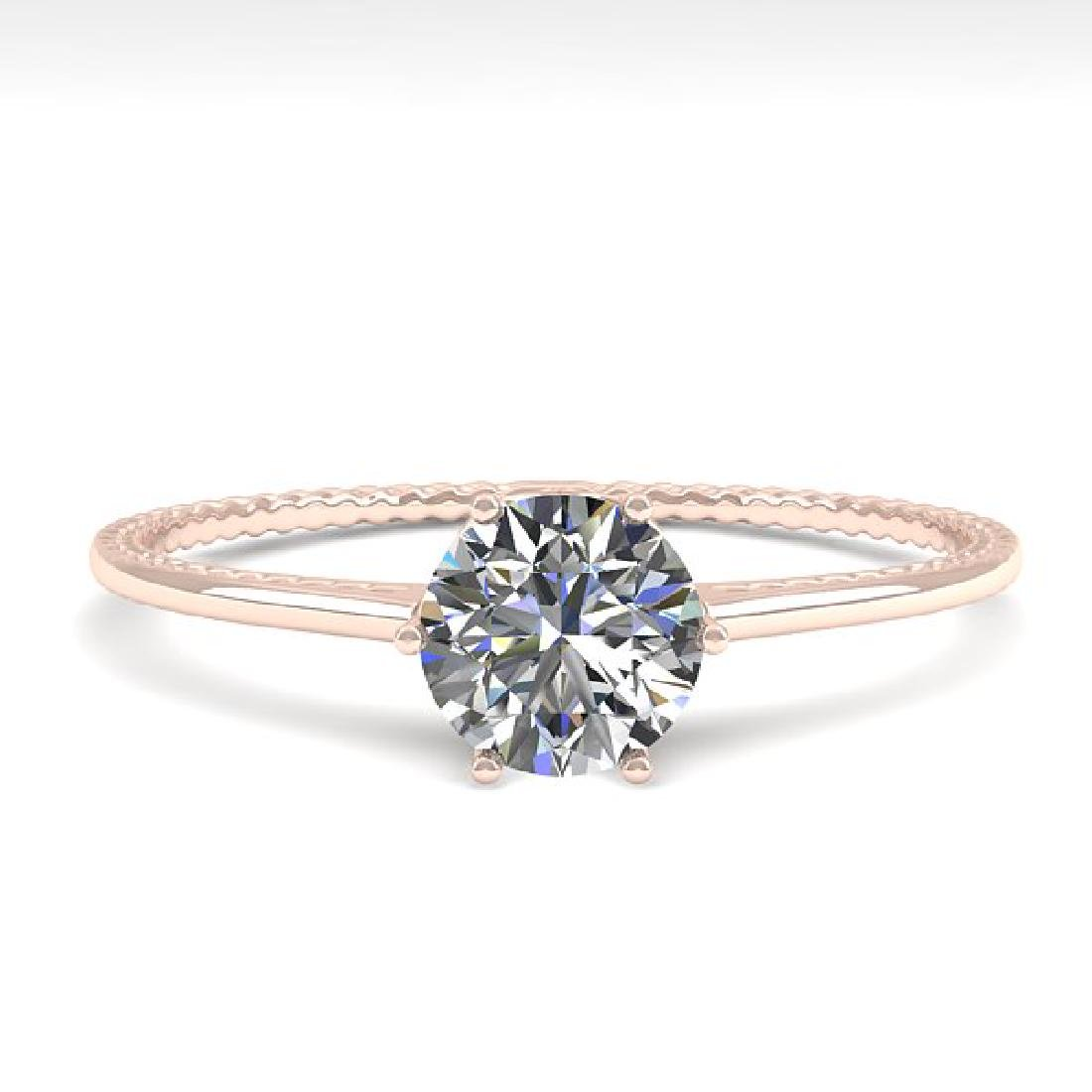 0.51 CTW VS/SI Diamond Art Deco Ring 14K Rose Gold