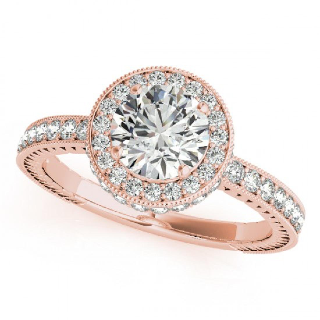 1.51 CTW Certified VS/SI Diamond Solitaire Halo Ring
