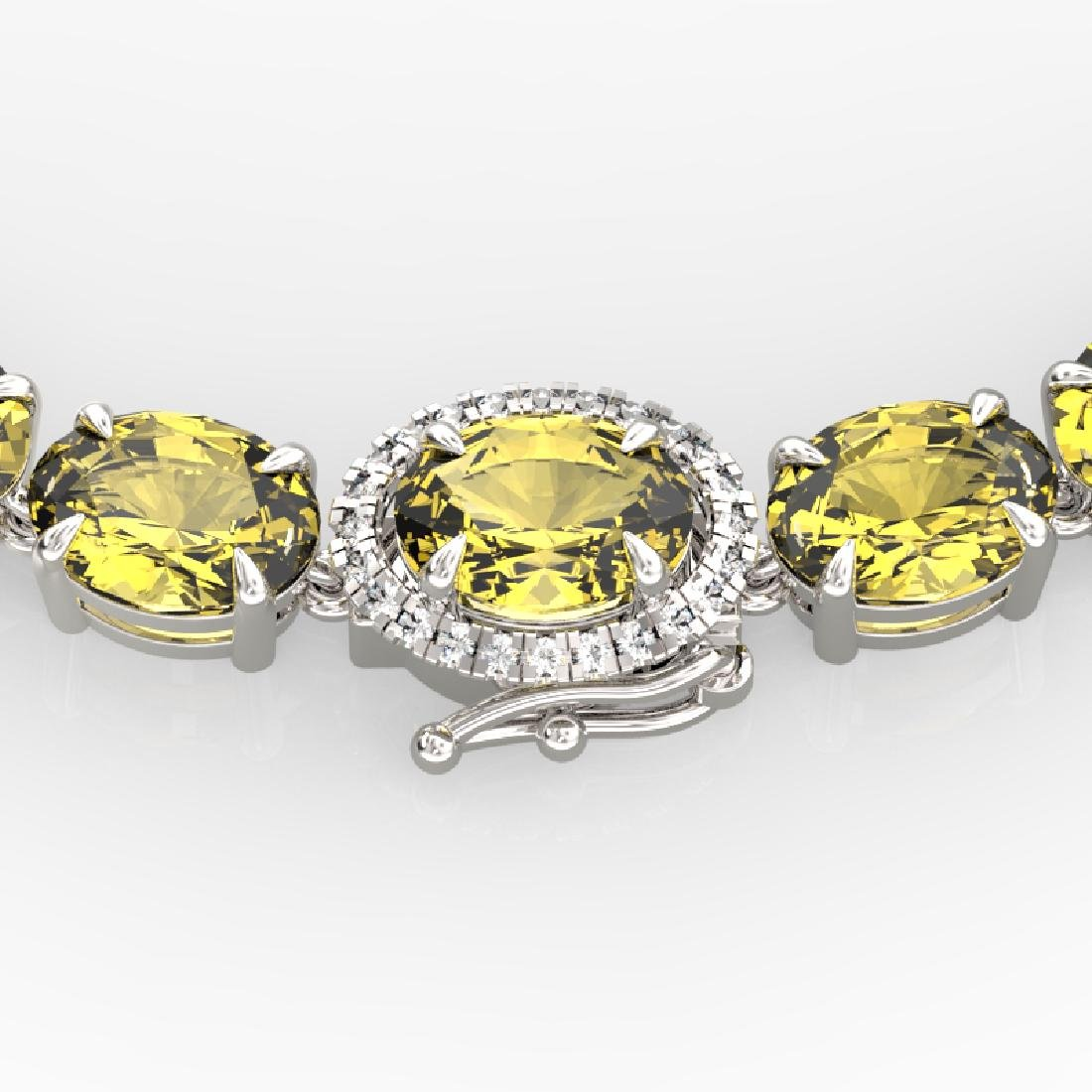 45.25 CTW Citrine & VS/SI Diamond Tennis Micro Pave