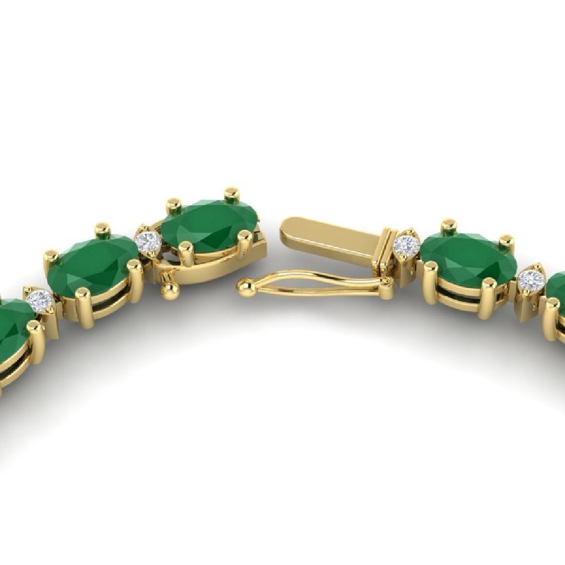 35 CTW Emerald & VS/SI Diamond Eternity Tennis Necklace