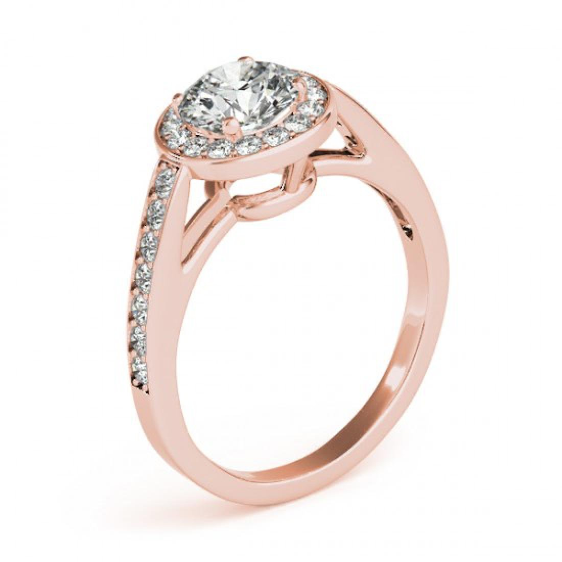 1.16 CTW Certified VS/SI Diamond Solitaire Halo Ring - 3