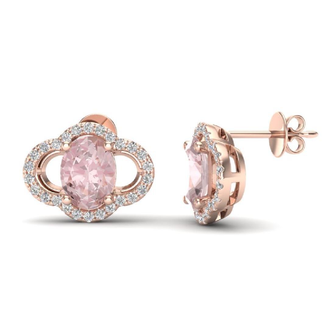 3.50 CTW Morganie & Micro Pave VS/SI Diamond Earrings