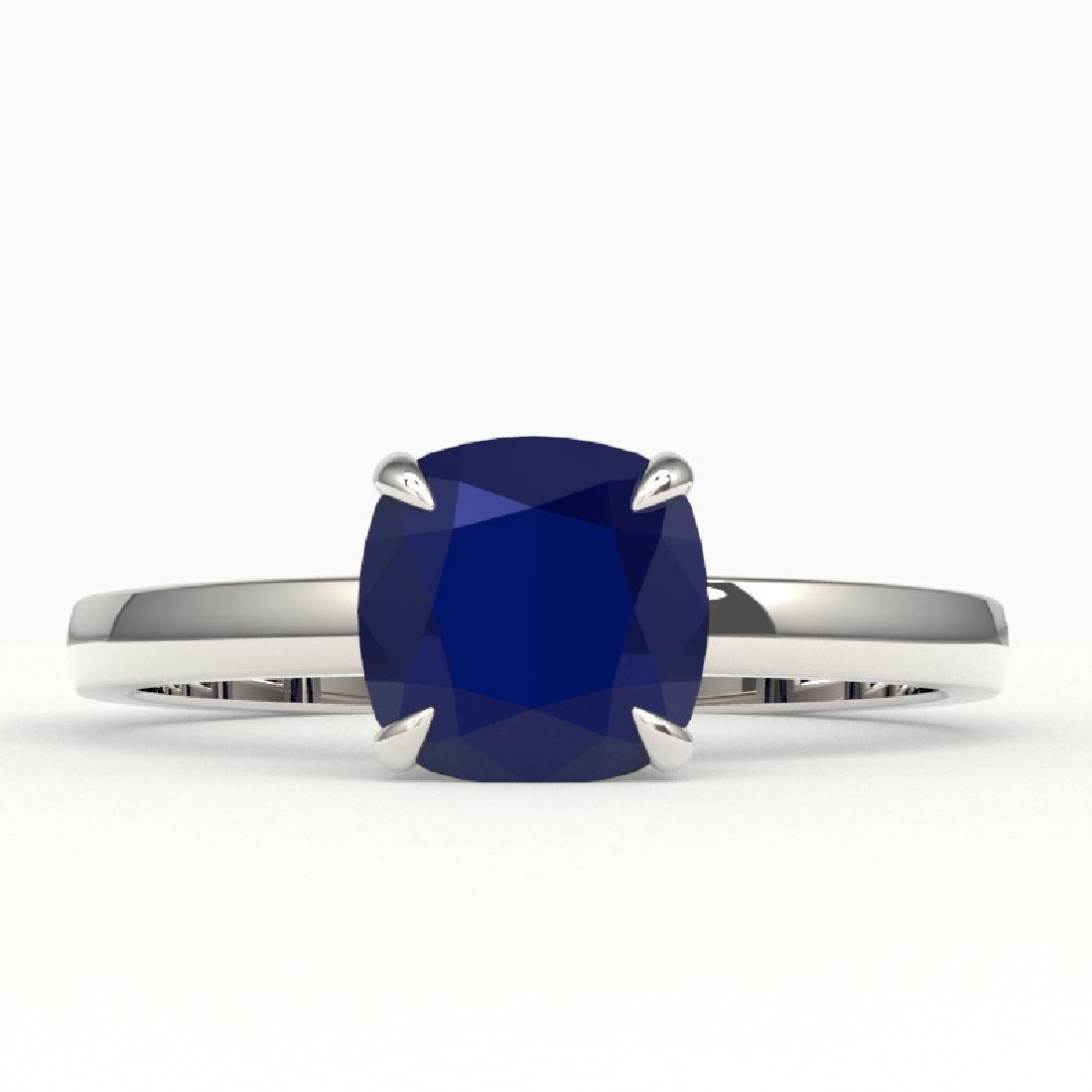 2 CTW Cushion Cut Sapphire Solitaire Engagement Ring