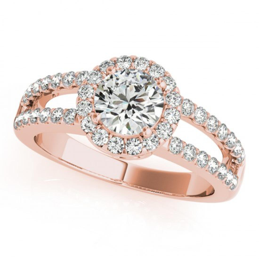1.26 CTW Certified VS/SI Diamond Solitaire Halo Ring