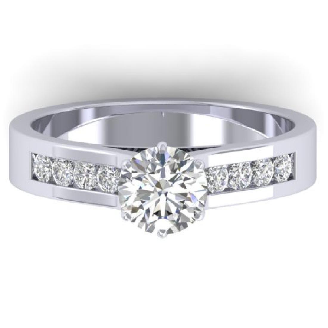 1.1 CTW Certified VS/SI Diamond Solitaire Art Deco Ring