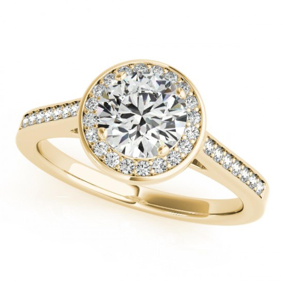 1.33 CTW Certified VS/SI Diamond Solitaire Halo Ring