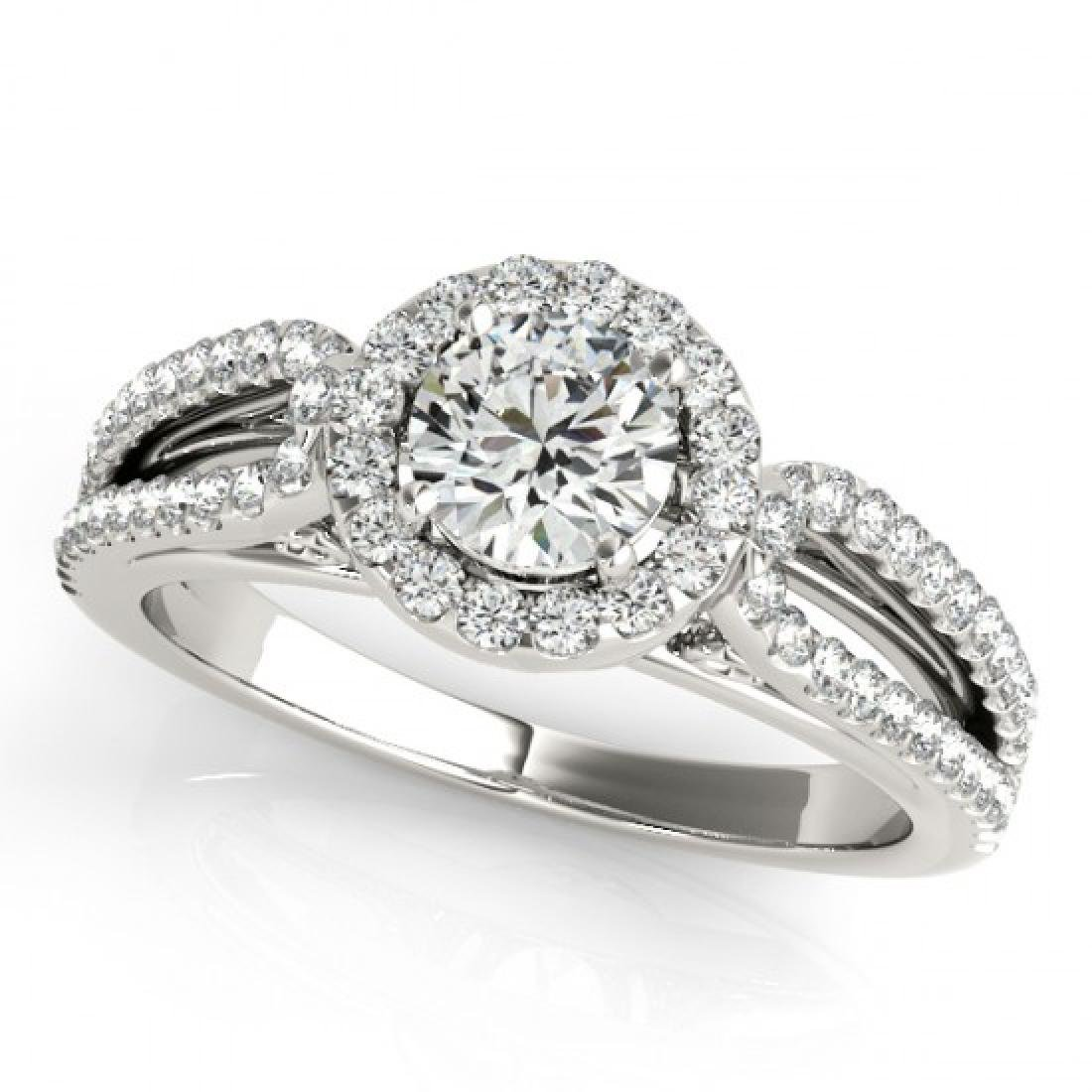 0.75 CTW Certified VS/SI Diamond Solitaire Halo Ring