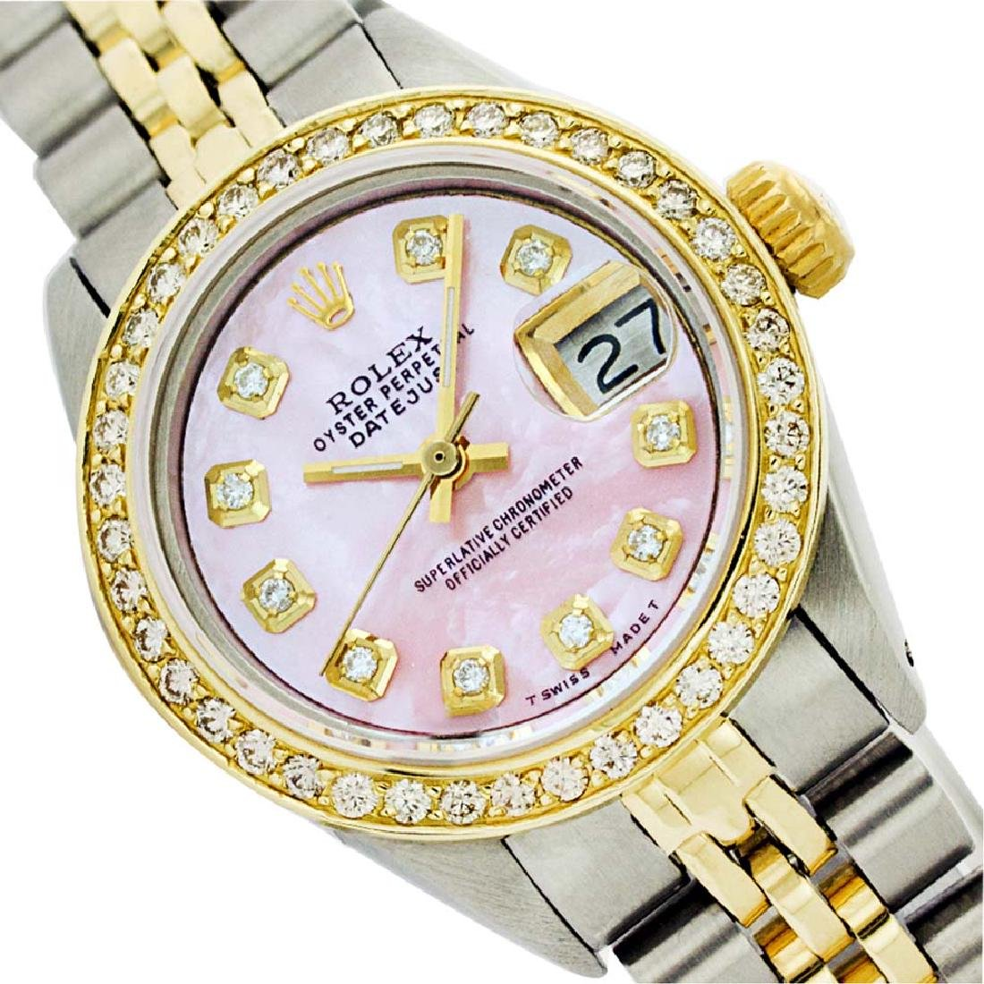Rolex Ladies Two Tone 14K Gold/SS, Diamond Dial,