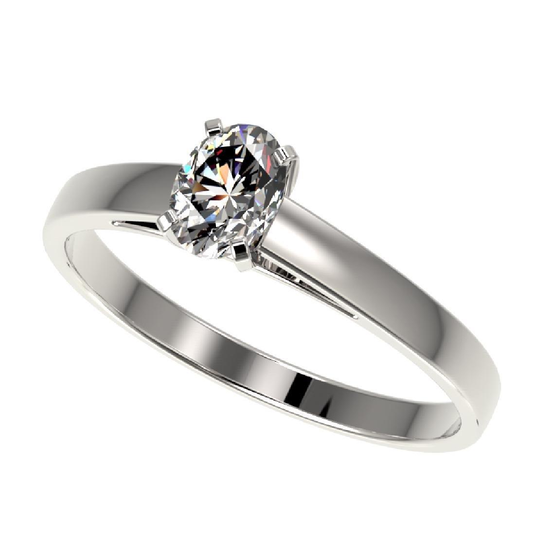 0.50 CTW Certified VS/SI Quality Oval Diamond