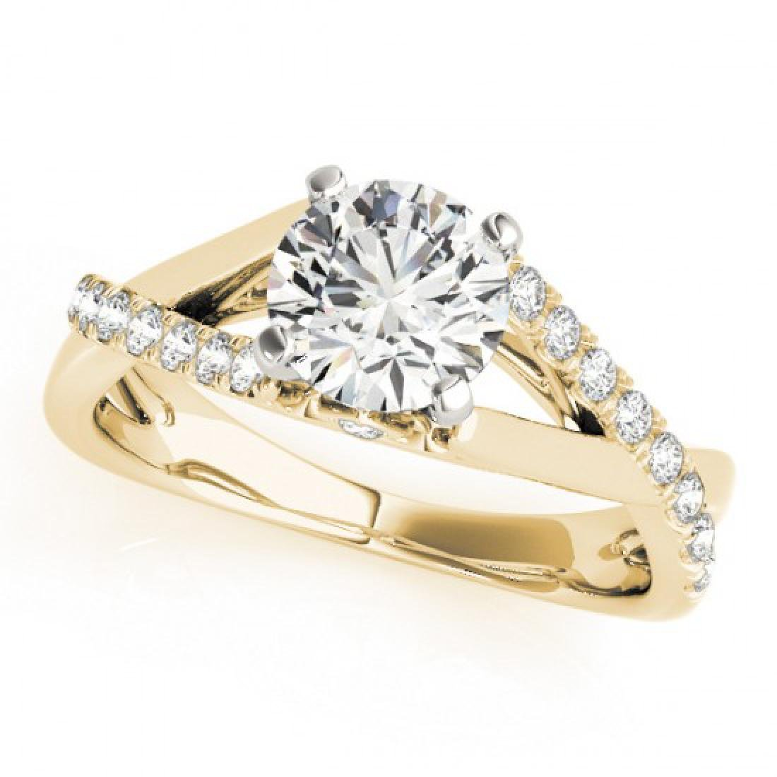 0.77 CTW Certified VS/SI Diamond Solitaire Ring 14K