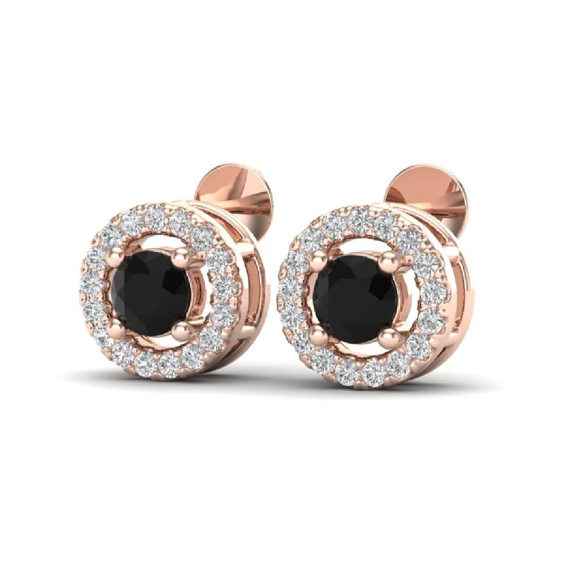 0.75 CTW Micro Pave VS/SI Diamond Earrings Solitaire