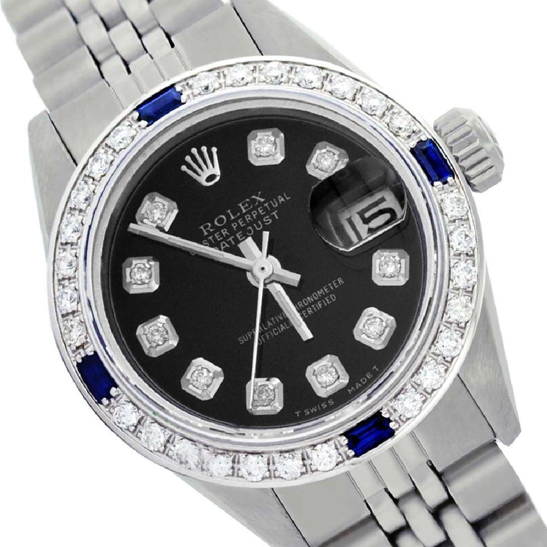 Rolex Men's Stainless Steel, QuickSet, Diam Dial &