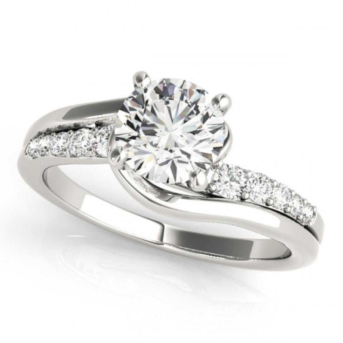 1.06 CTW Certified VS/SI Diamond Bypass Solitaire Ring