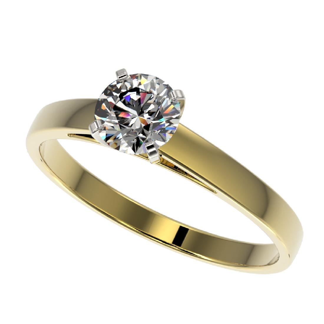 0.75 CTW Certified H-SI/I Quality Diamond Solitaire
