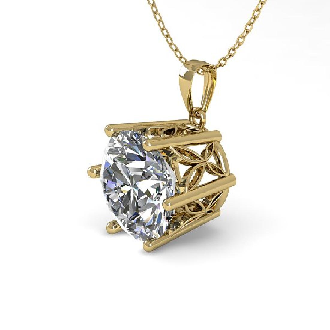 1 CTW VS/SI Diamond Art Deco Necklace 14K Yellow Gold