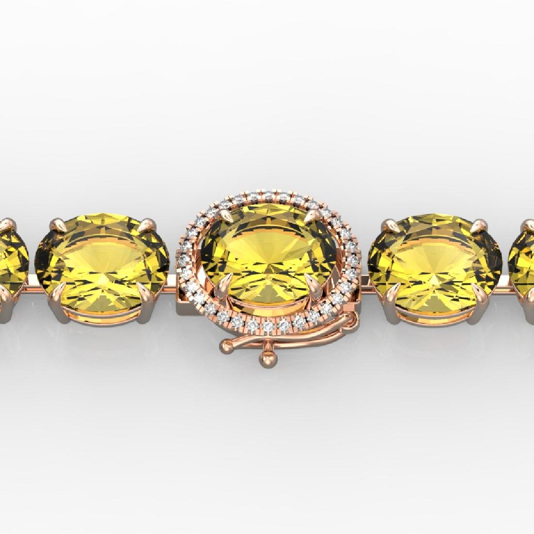 78 CTW Citrine & Micro Pave VS/SI Diamond Halo Designer