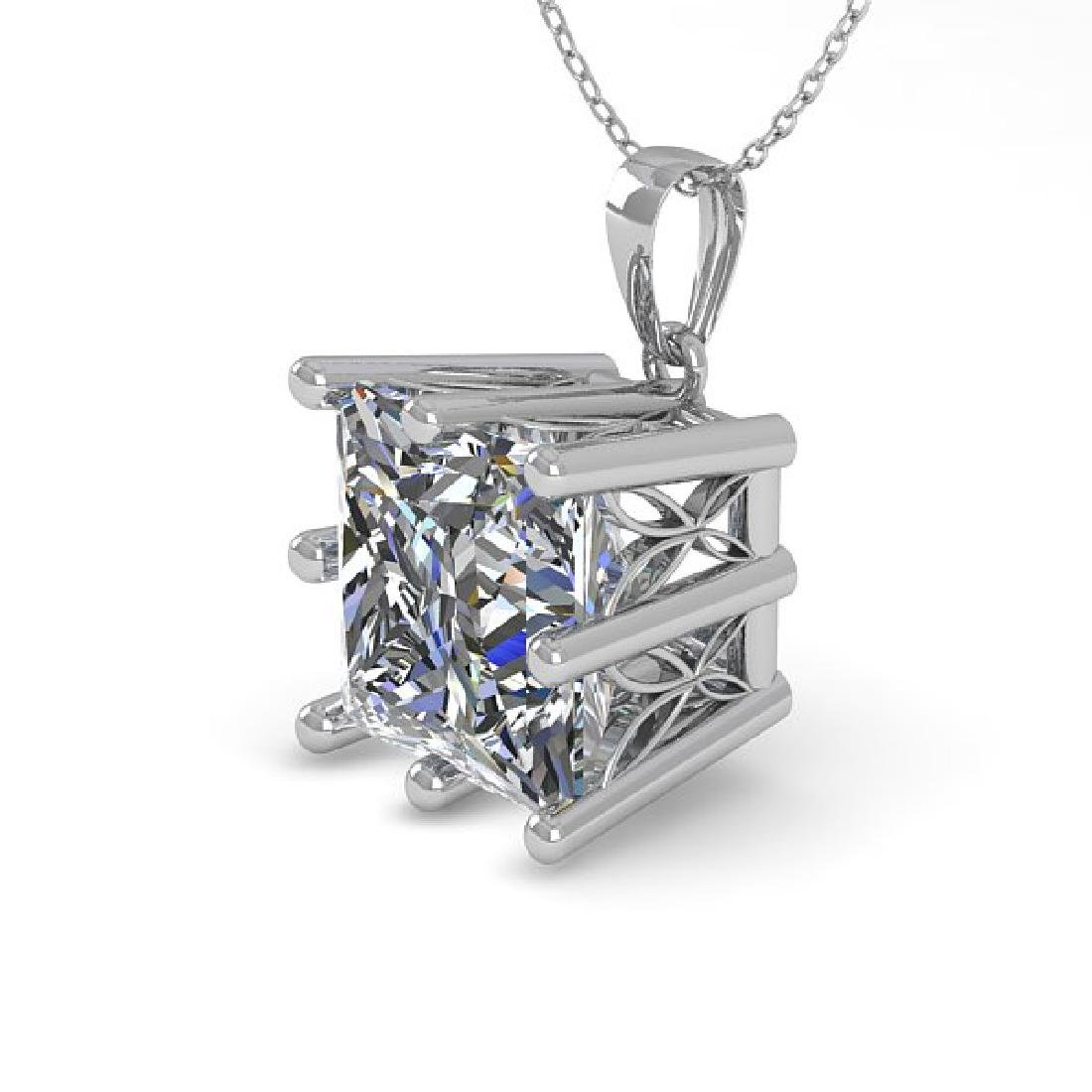 1 CTW VS/SI Princess Diamond Art Deco Necklace 14K