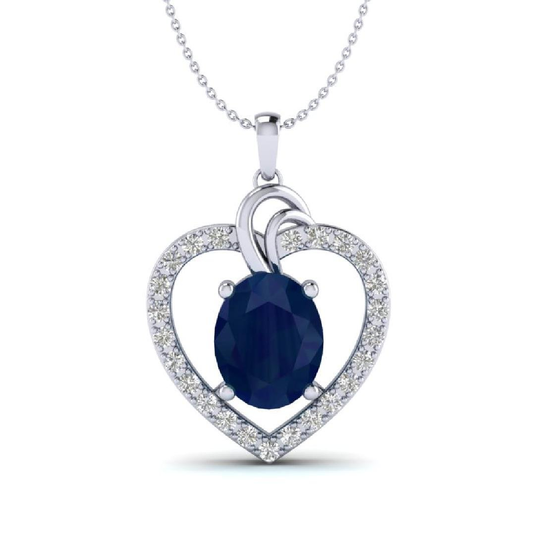 4 CTW Sapphire & VS/SI Diamond Designer Inspired Heart