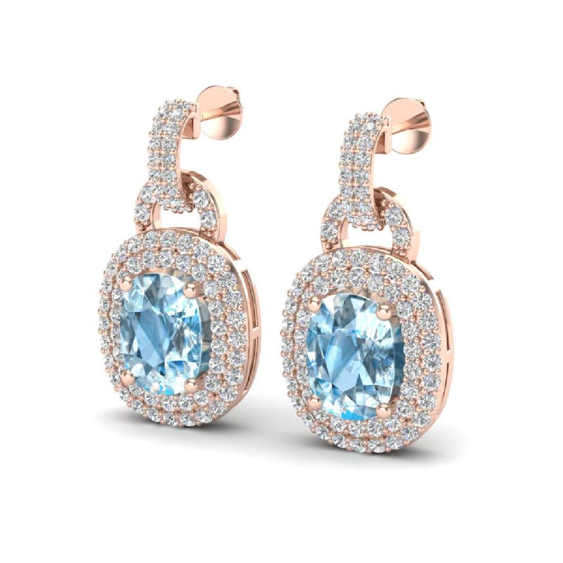 5 CTW Sky Blue Topaz And Micro VS/SI Diamond Pave