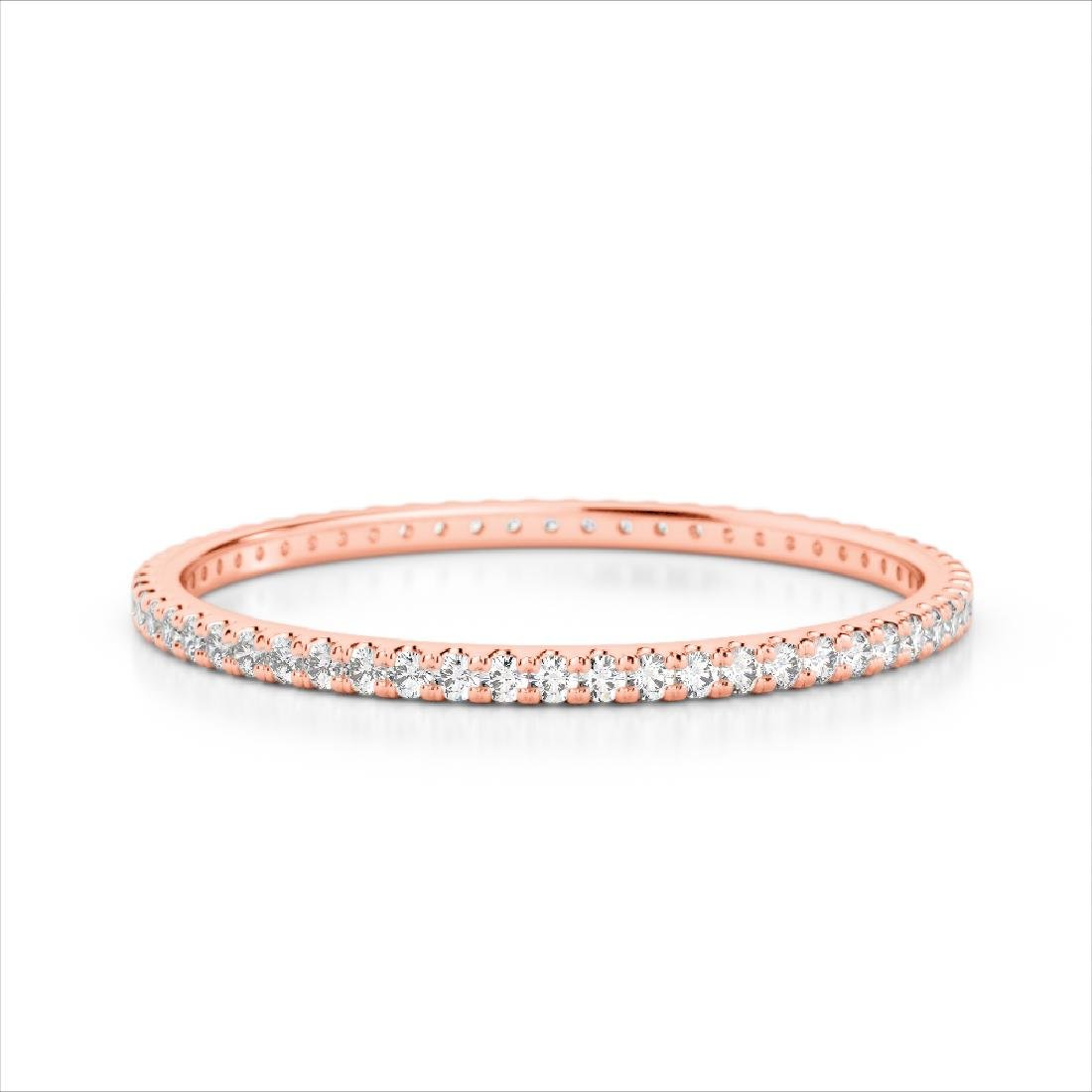 0.50 CTW Eternity Micro Pave VS/SI Diamond Band Ring