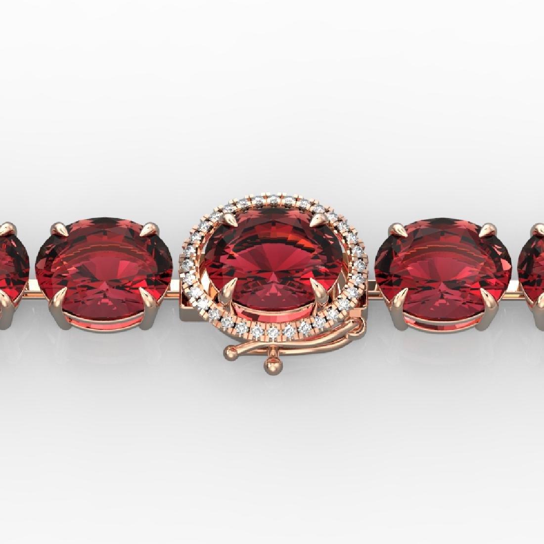 65 CTW Pink Tourmaline & Micro VS/SI Diamond Halo