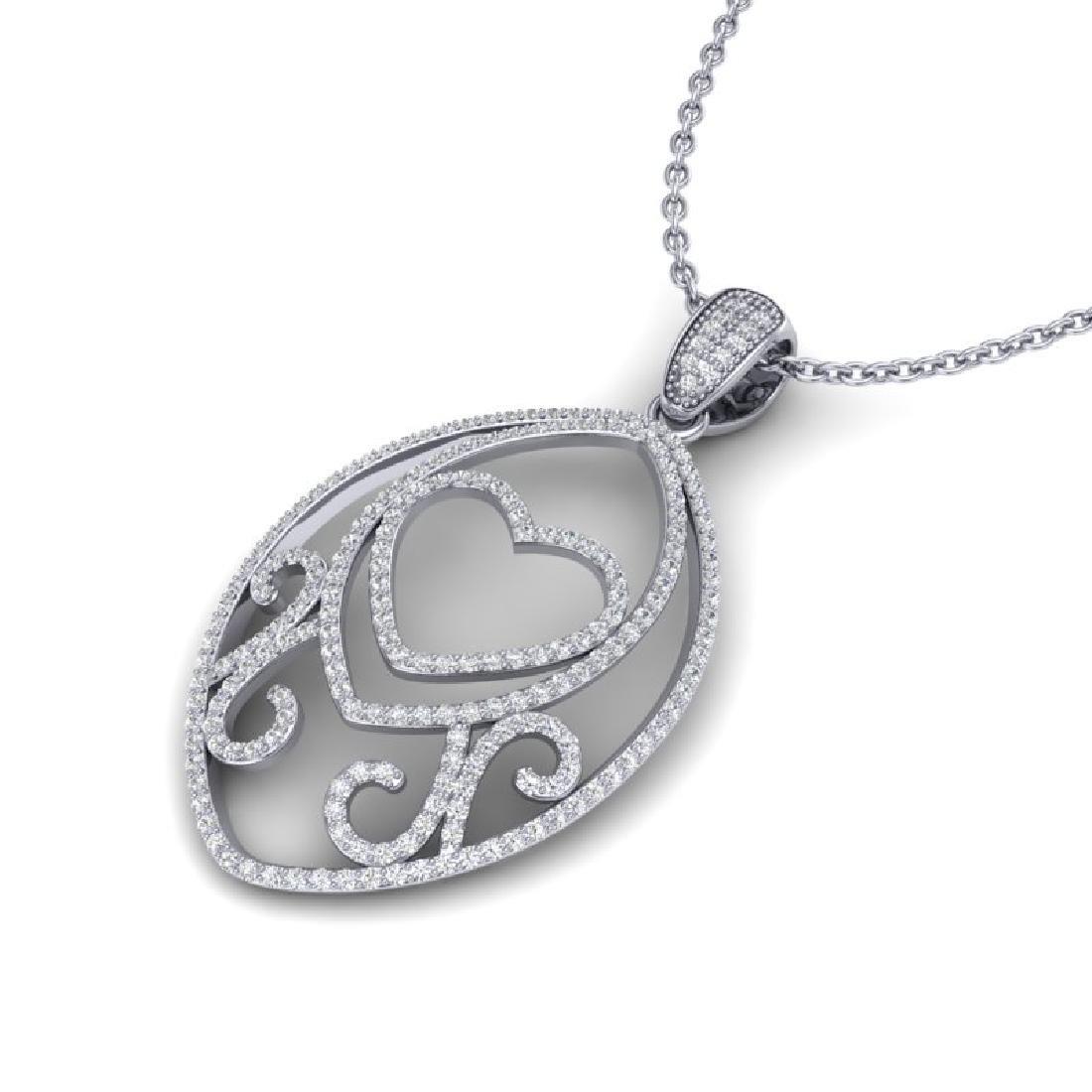 1.75 CTW Micro Pave VS/SI Diamond Designer Heart