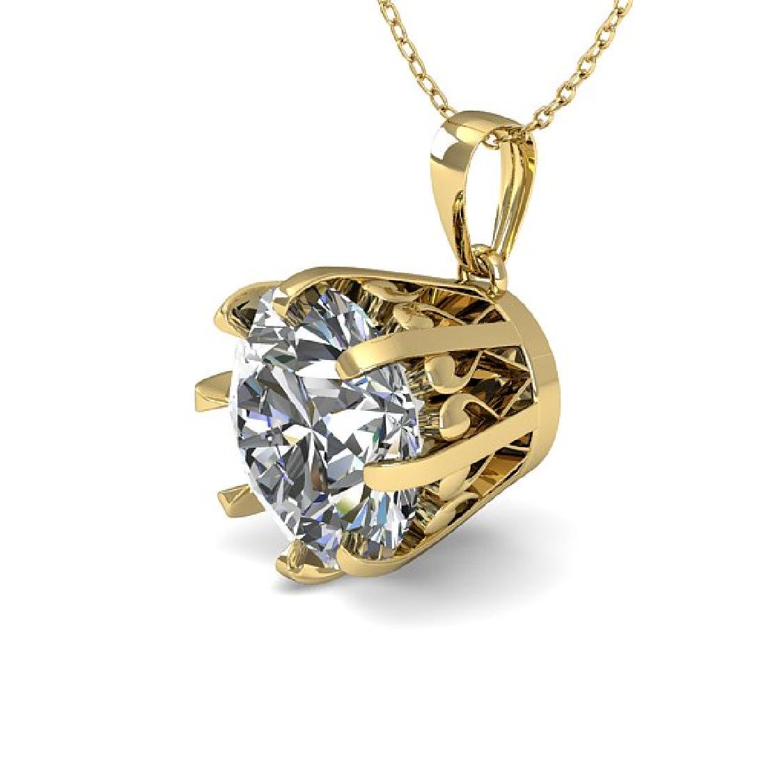 1.50 CTW VS/SI Diamond Solitaire Necklace 14K Yellow