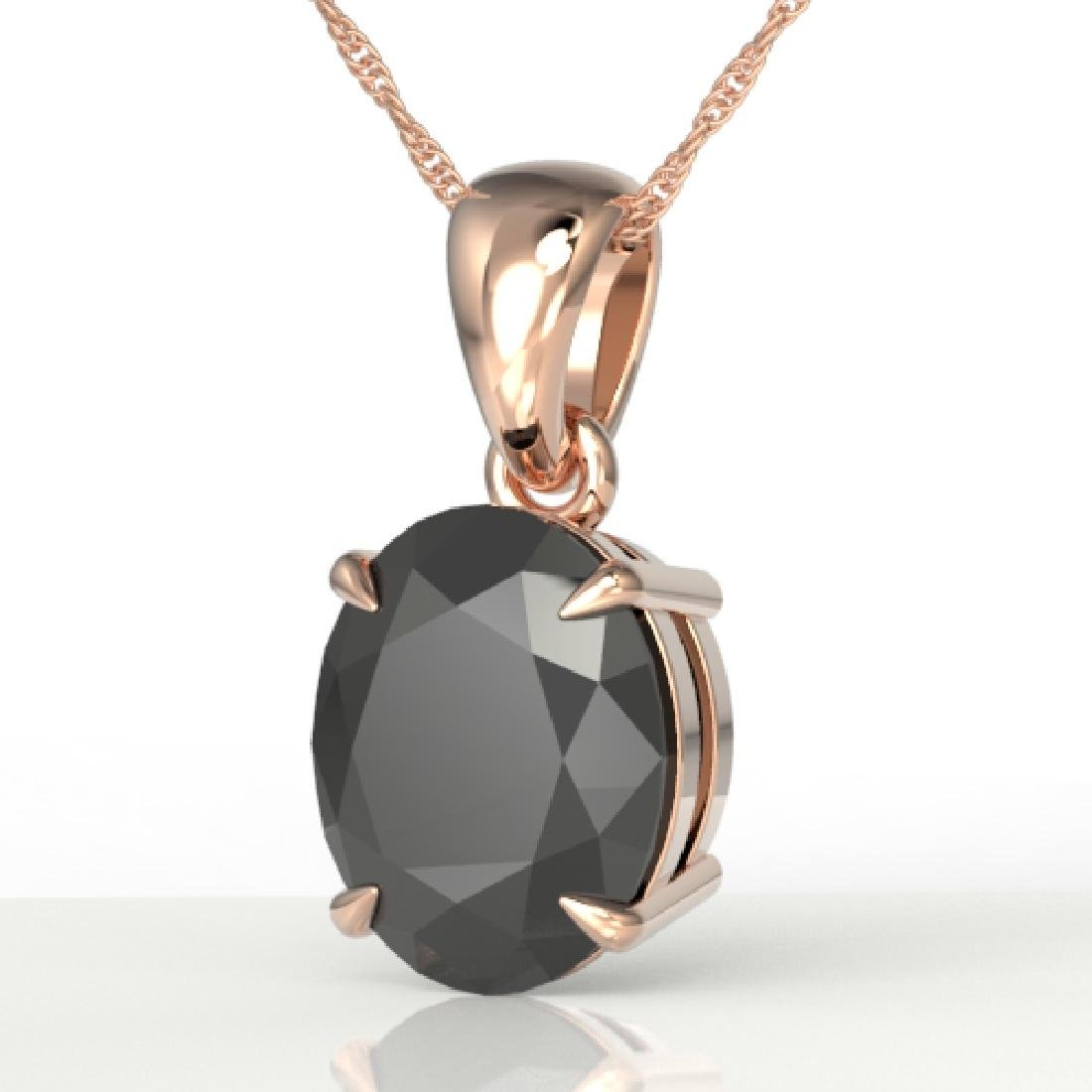 5 CTW Black VS/SI Diamond Designer Solitaire Necklace