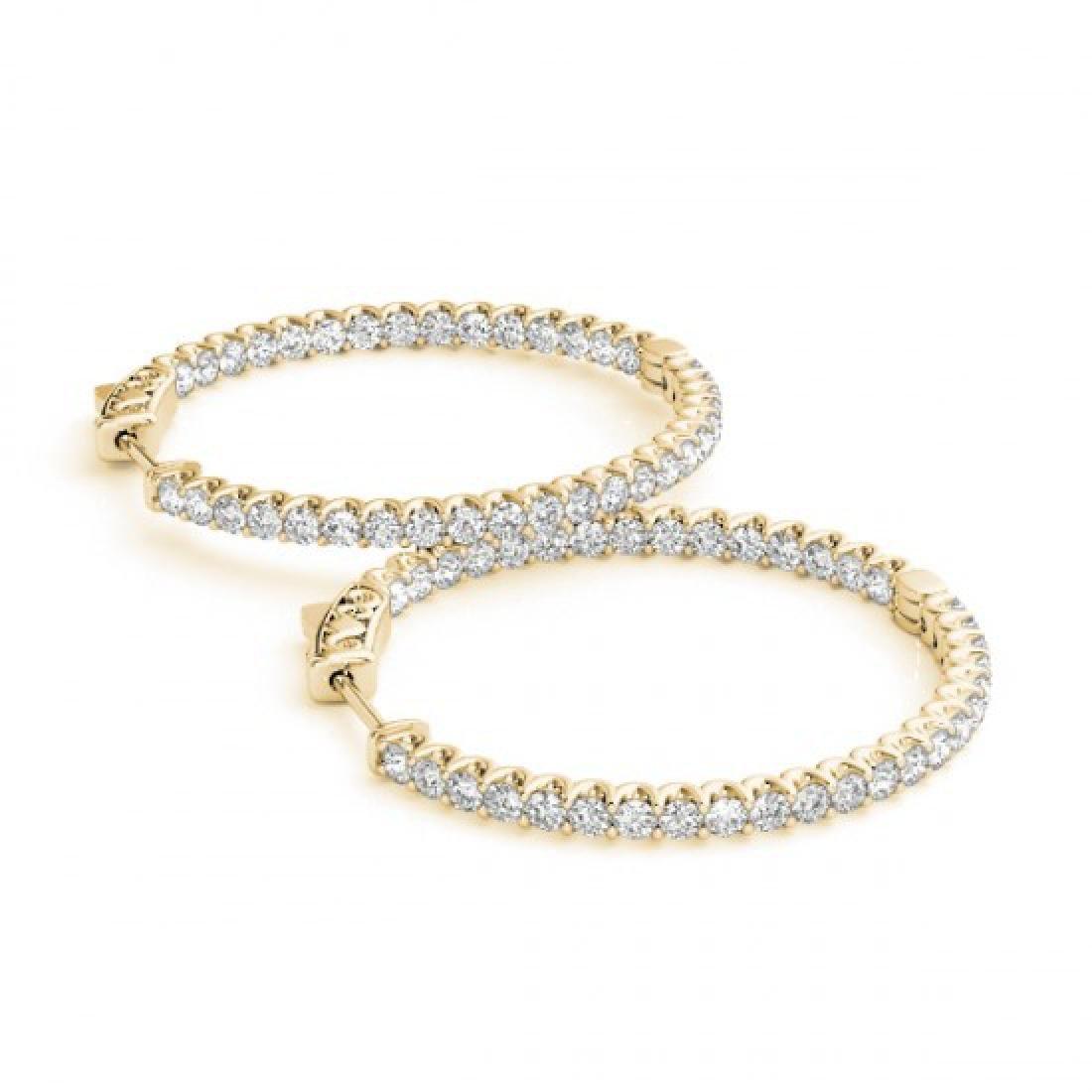2.25 CTW Diamond VS/SI Certified 43 Mm Hoop Earrings