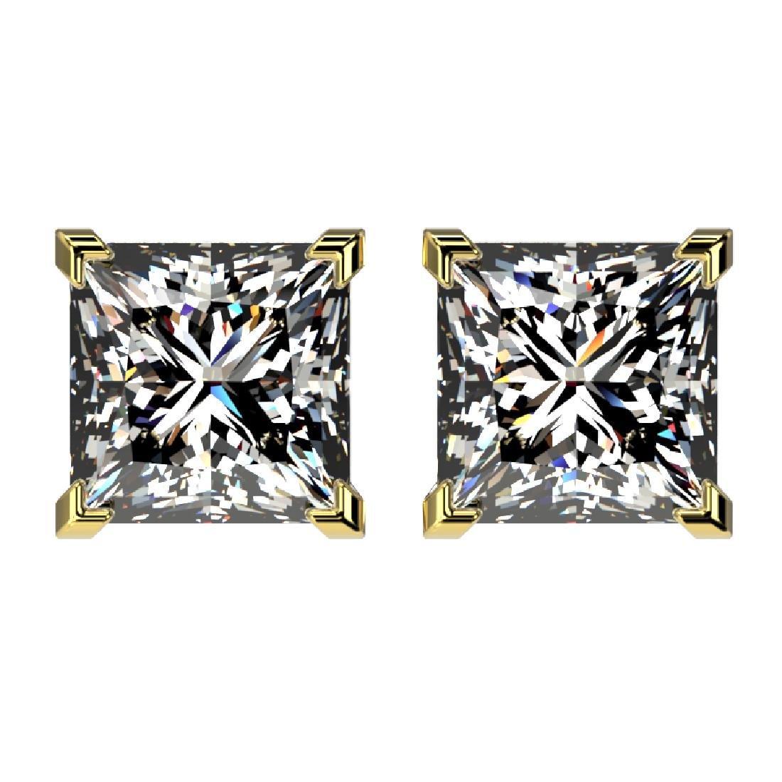 2.50 CTW Certified VS/SI Quality Princess Diamond Stud