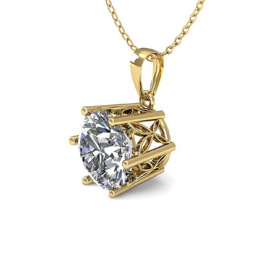 0.50 CTW Certified VS/SI Diamond Art Deco Necklace 14K