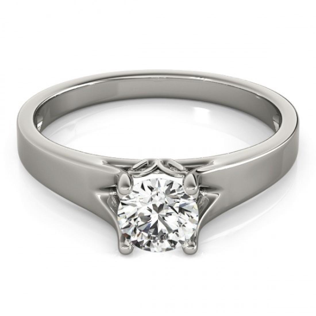 1 CTW Certified VS/SI Diamond Solitaire Ring 14K White