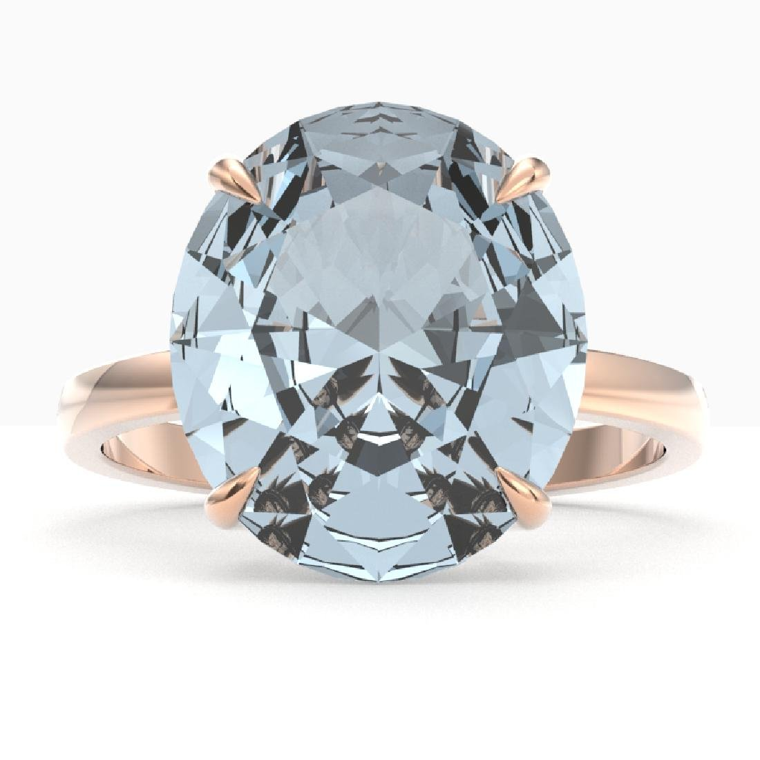 9 CTW Aquamarine Designer Solitaire Engagement Ring 14K