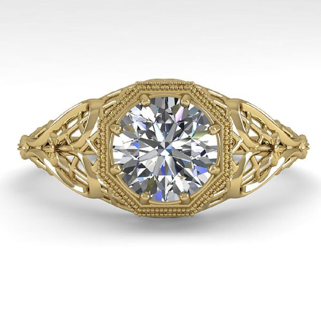 1.0 CTW VS/SI Diamond Solitaire Ring 14K Yellow Gold