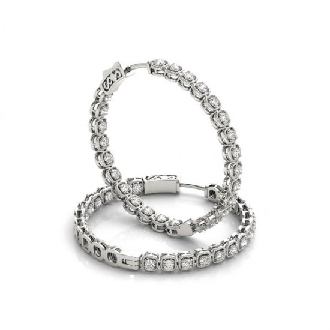 1.25 CTW Diamond VS/SI Certified 22 Mm Hoop Earrings