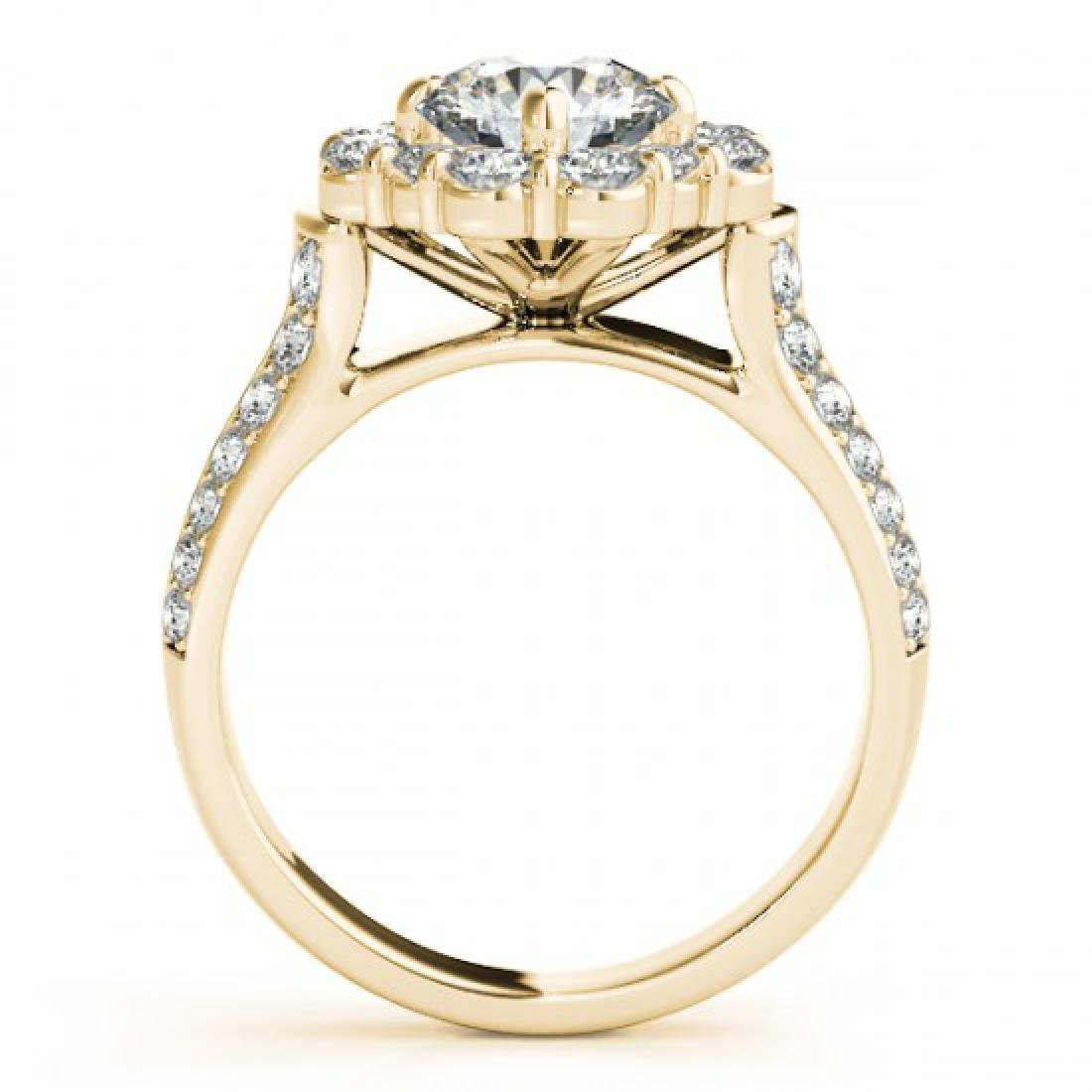 2.16 CTW Certified VS/SI Diamond Solitaire Halo Ring - 2