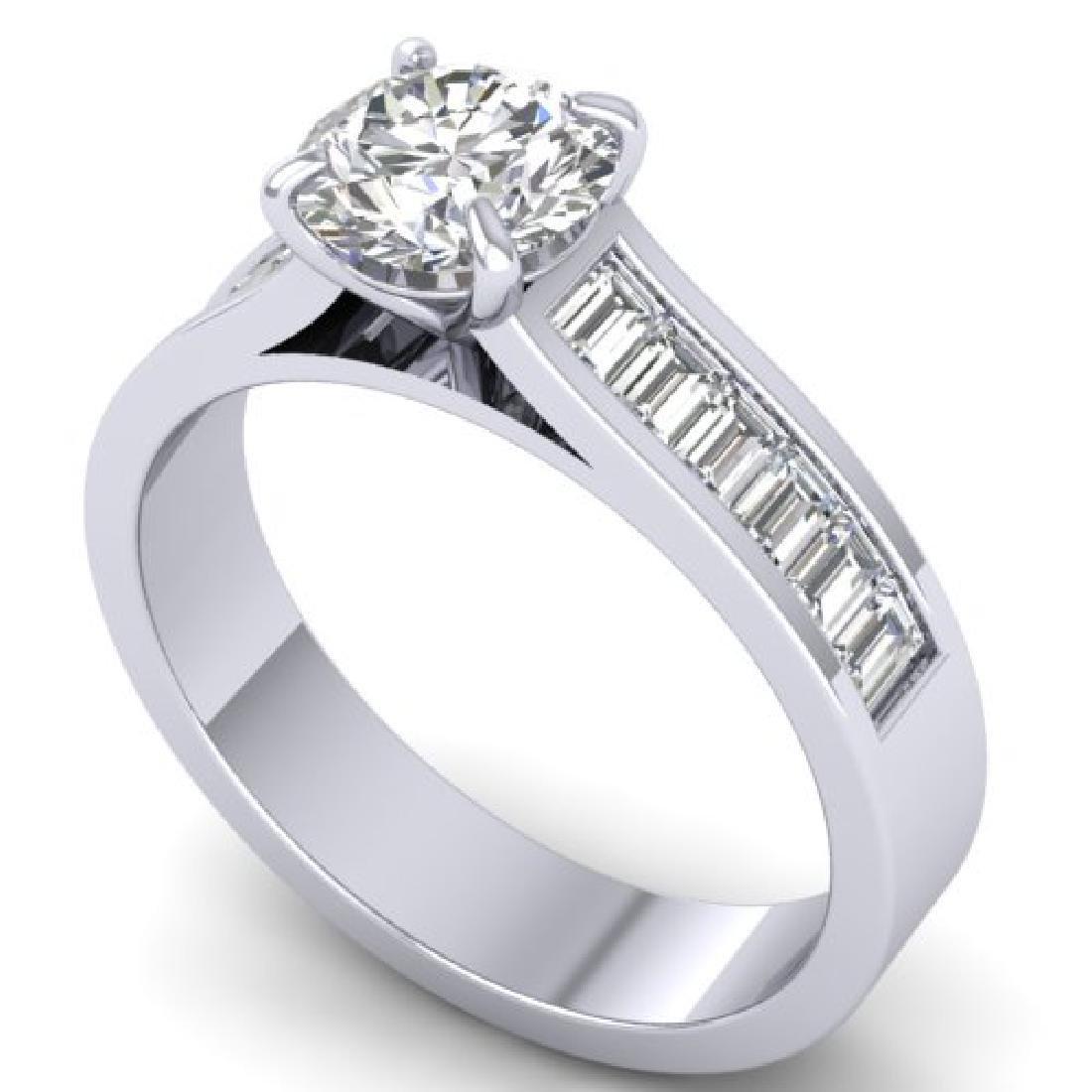1.75 CTW Certified VS/SI Diamond Solitaire Art Deco