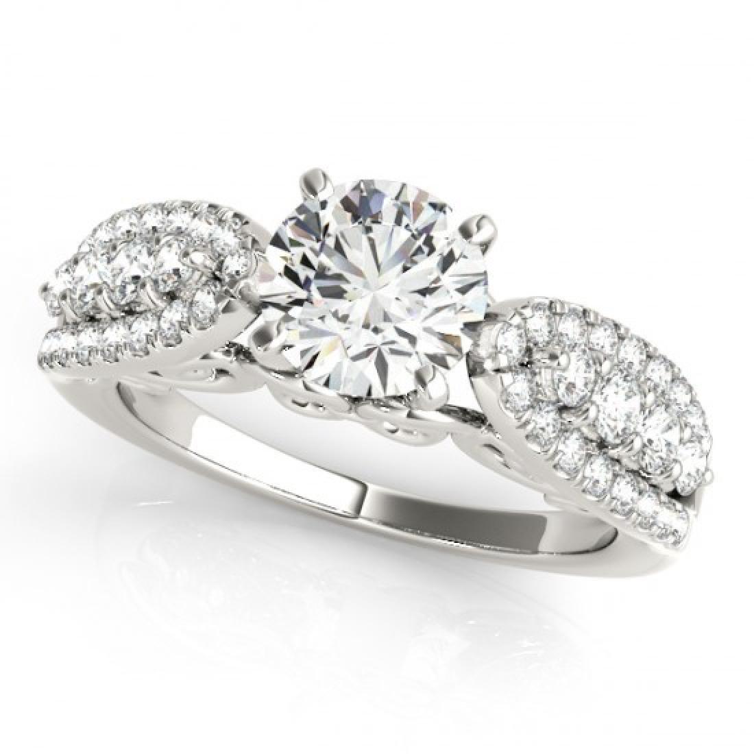 2 CTW Certified VS/SI Diamond Solitaire Ring 14K White