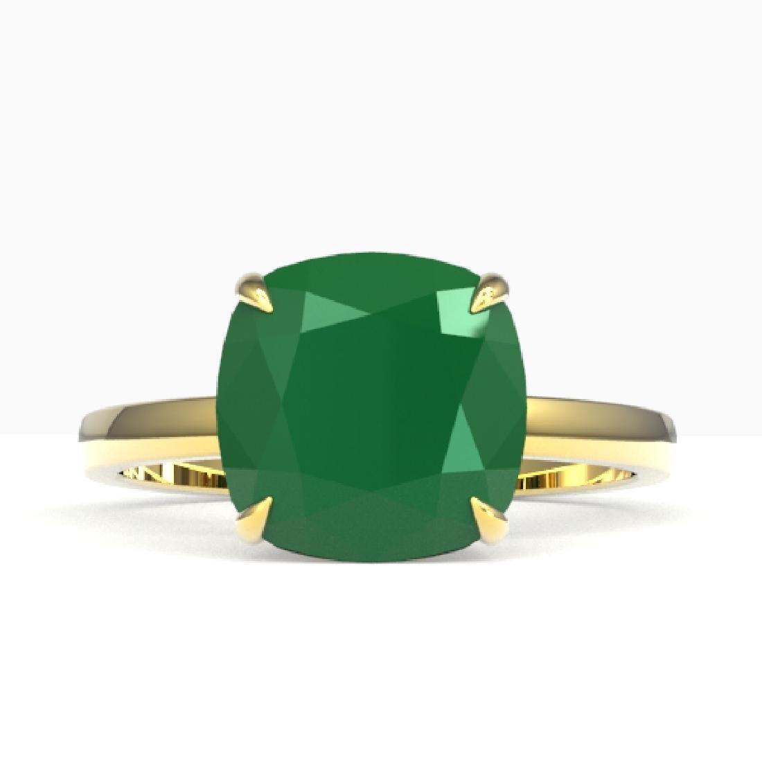 6 CTW Cushion Cut Emerald Designer Inspired Engagement