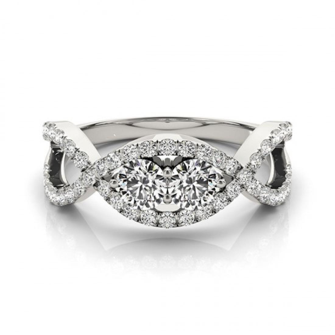 1.01 CTW Certified VS/SI Diamond 2 Stone 2 Stone Ring