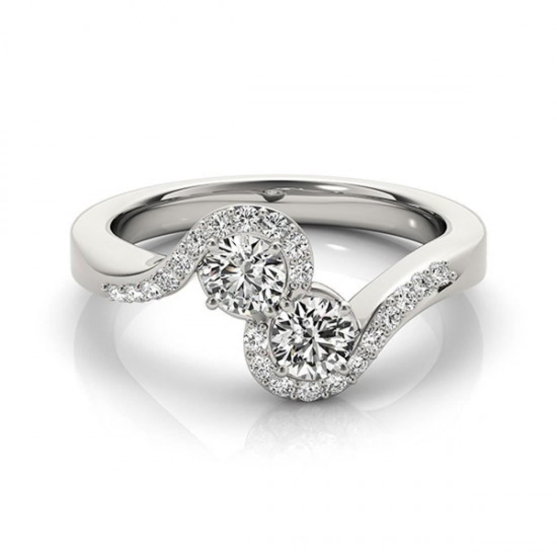 1.25 CTW Certified VS/SI Diamond 2 Stone 2 Stone Ring