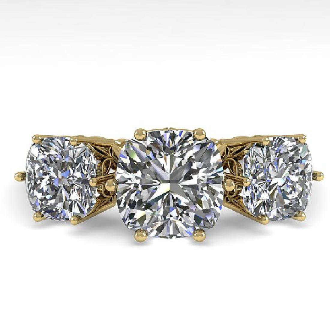 2.0 CTW Certified VS/SI Cushion Diamond Art Deco Ring