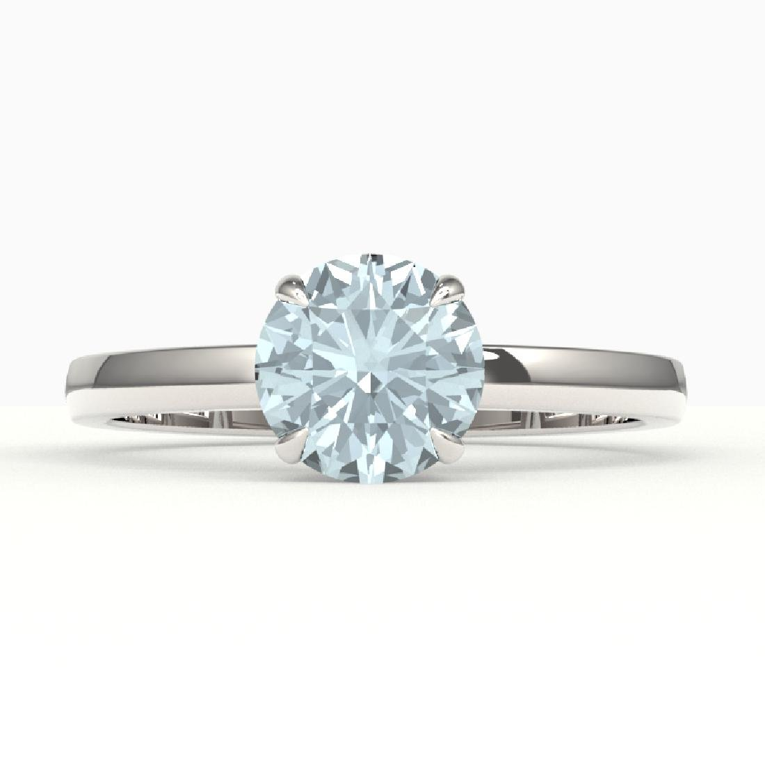 2 CTW Aquamarine Designer Inspired Solitaire Engagement