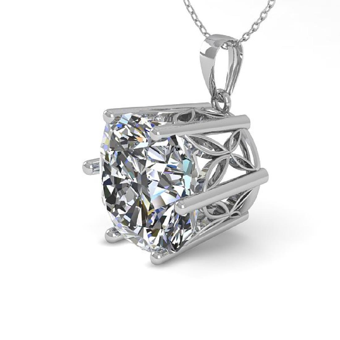 1 CTW VS/SI Cushion Cut Diamond Art Deco Necklace 14K