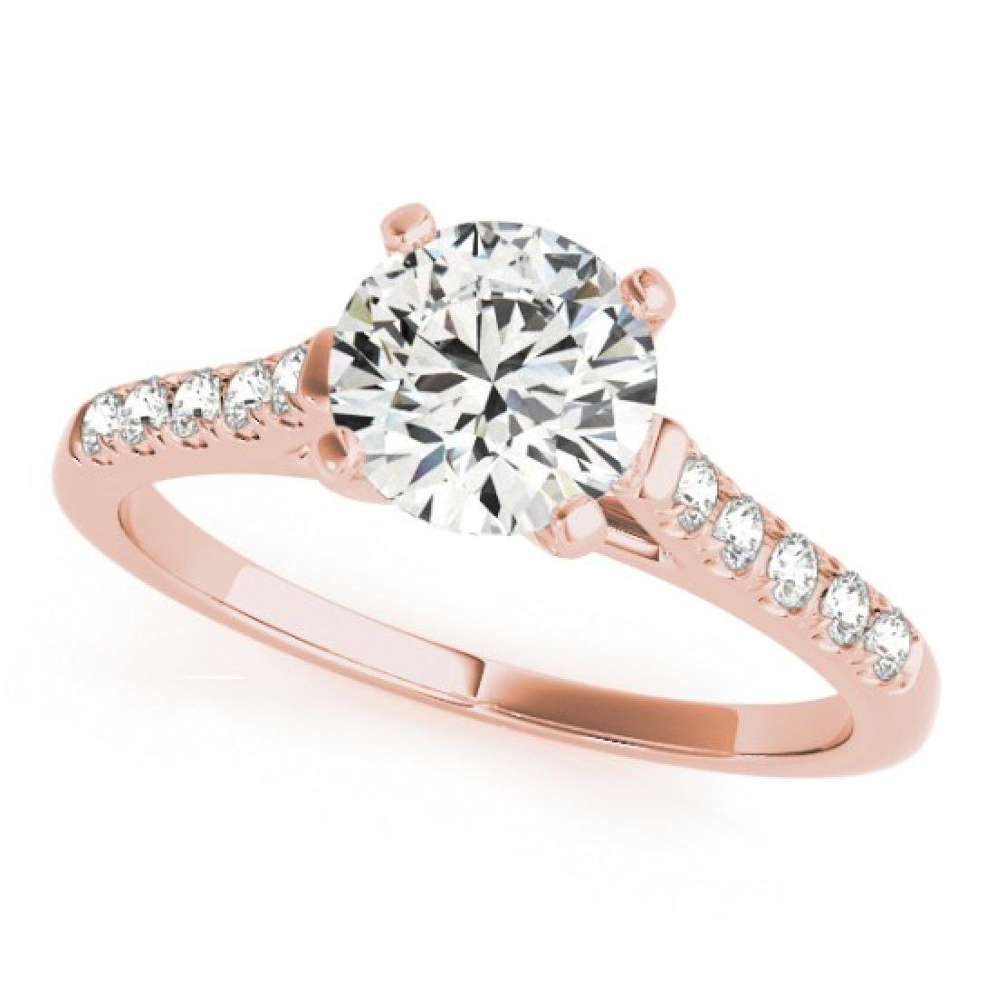 1.2 CTW Certified VS/SI Diamond Solitaire Ring 14K Rose