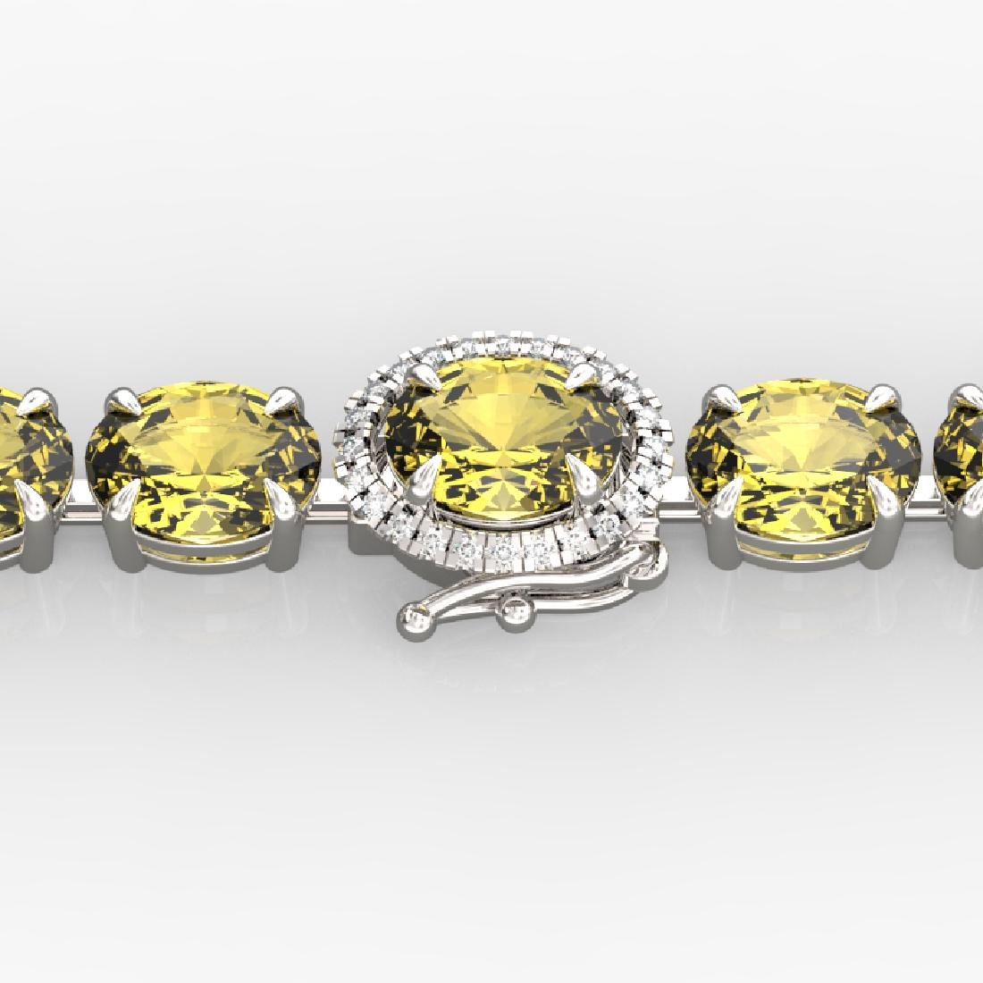 19.25 CTW Citrine & VS/SI Diamond Tennis Micro Pave
