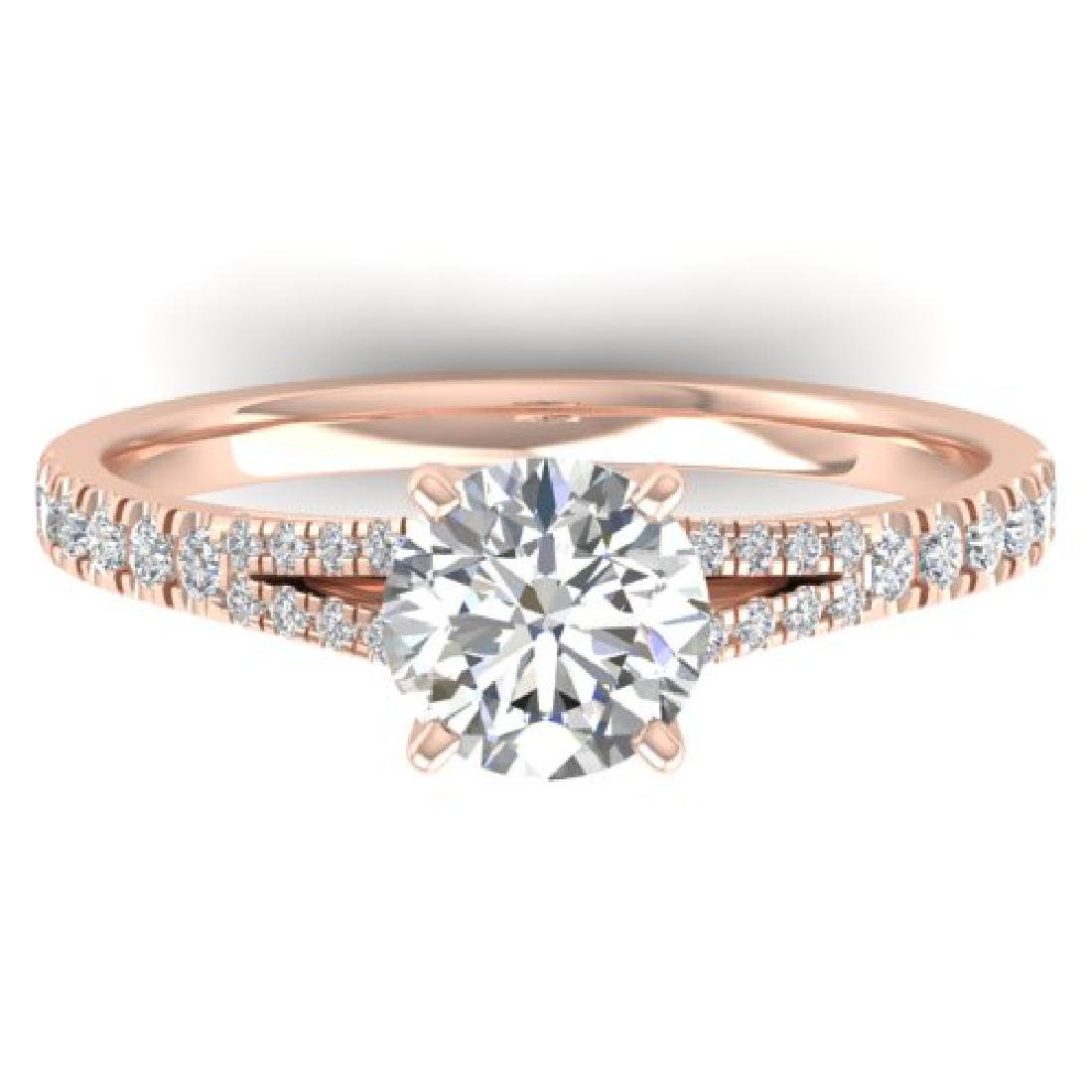 1.36 CTW Certified VS/SI Diamond Solitaire Art Deco