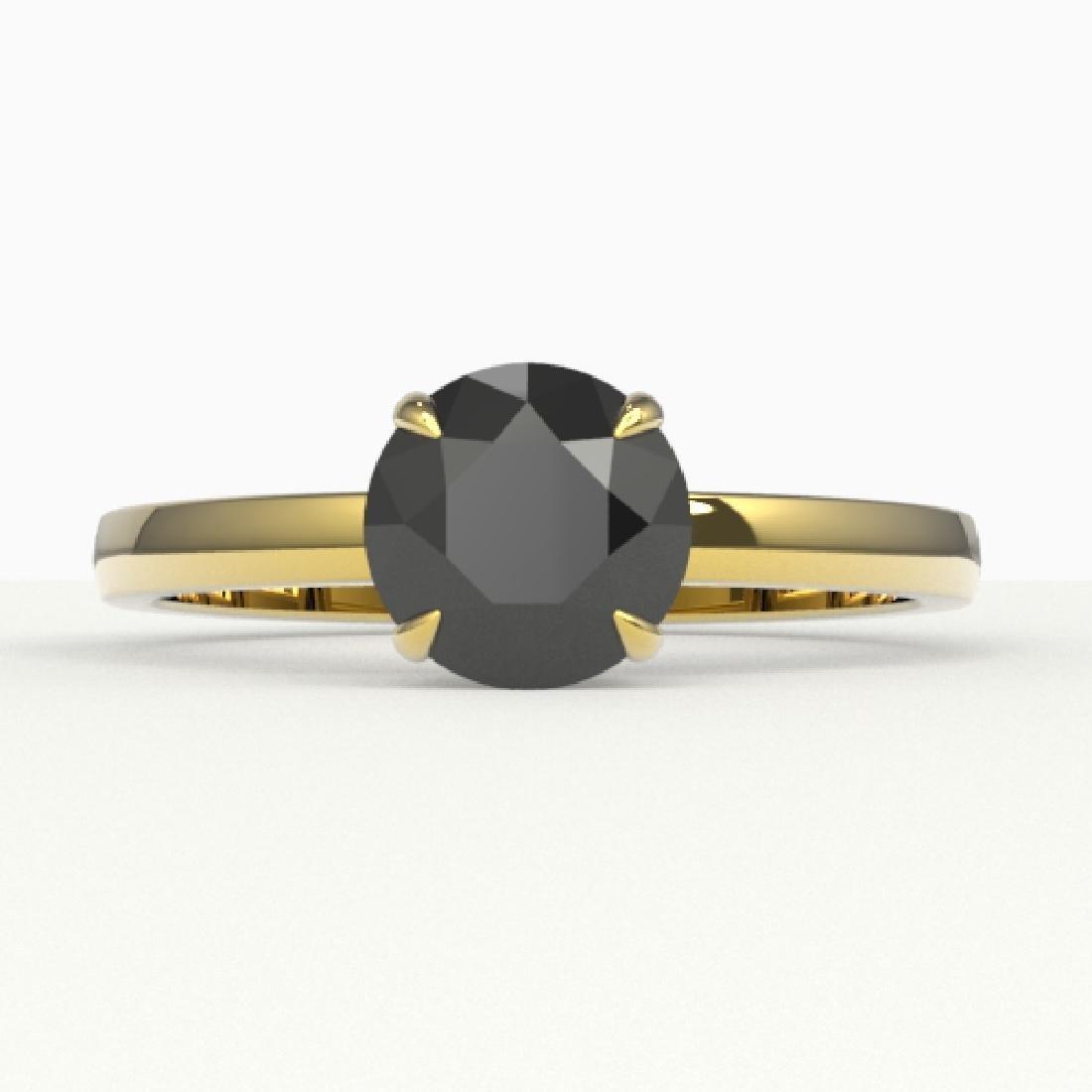 2 CTW Black VS/SI Diamond Designer Inspired Engagement
