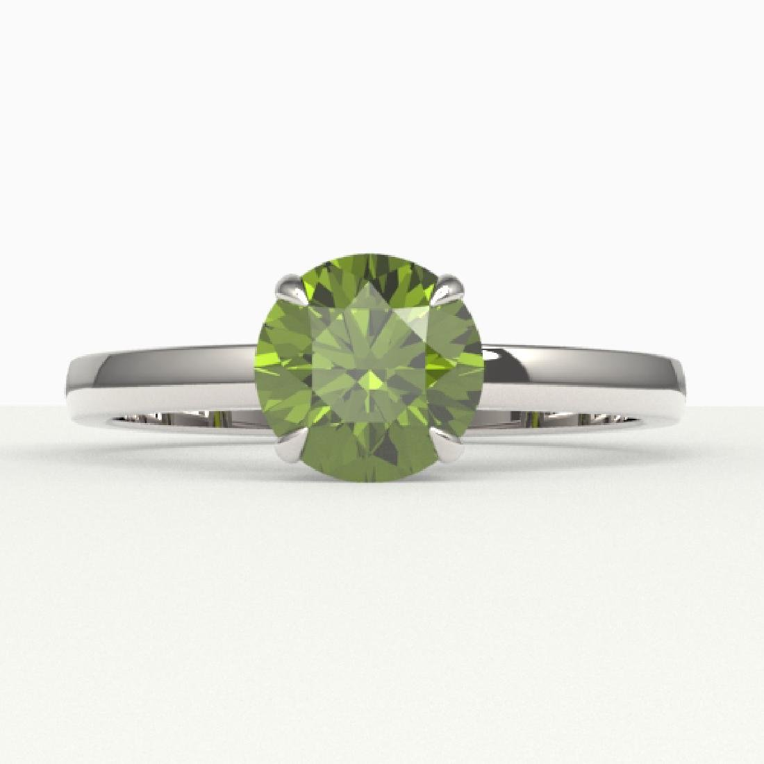 2 CTW Green Tourmaline Designer Solitaire Engagement